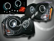 2008-2010 JEEP GRAND CHEROKEE TWO CCFL HALO LED BLACK PROJECTOR HEADLIGHTS