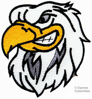 EMBROIDERED PATCH AMERICAN BALD EAGLE new IRON-ON PATRIOTIC BIKER EMBLEM