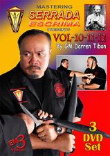 3 DVD Box Mastering Serrada Escrima Vol.10-12 By Darren Tibon Kali Arnis Eskrima