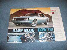 """1967 Chevy Camaro Restomod Article """"Baby Blue Bow Tie"""""""