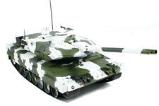 Large Scale RC Leopard 2A6 Tank Winter Edition, Lights, Sound, Shoots - Hobby En