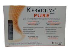 keractive Pure Hair Care Leave in Hair Treatment/12Vials 15ml ea Keratin