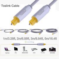 Weave OD4.0 Toslink Digital Optical Audio Cable SPDIF Fibre Lead Cord 1m 2m 5m