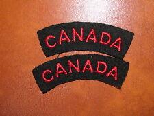 Royal Canadian Navy Badge Set Shoulder Title Flash CANADA Red on Black
