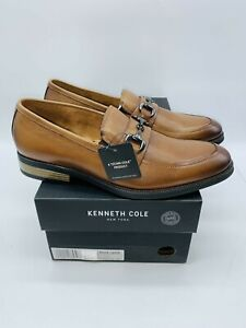 Kenneth Cole New York Men's Brock Bit Slip On Loafers - Cognac