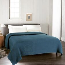 100% Combed Cotton Soft Cozy Stylish & Warm All Season Thermal Blankets -Teal