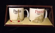 Starbucks Paris France Demi Mug Set Eiffel Tower Coffee Cup Mont St Michel Seine