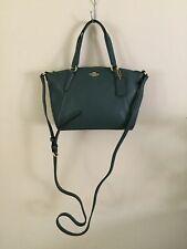 NWT Coach F28994 Pebble Leather Mini Kelsey Crossbody Handbag Dark Turquoise