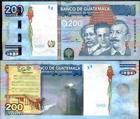 GUATEMALA 200 QUETZALES 2009 P 120 UNC