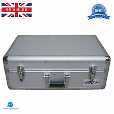 NEO Silver Aluminium DJ Flight Carry Case Holds 100 Cd's in JEWEL Cases Sleeves