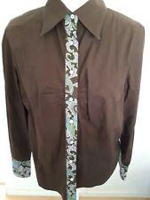 Robert Graham Button Up Shirt Solid Brown Sz XL Long Sleeves Flip Cuffs Paisley