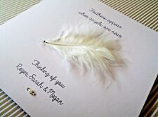 Handmade Bereavement Card - Personalised - Condolence - Sympathy - 6 x 6 inch