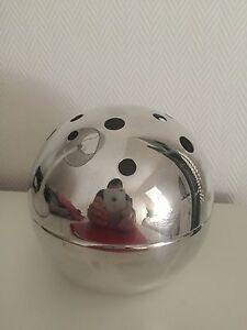 Christofle Gallia silver plated Mars Gio Ponti Sabattini spherical vase 50s 60s