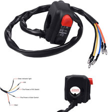 """7/8"""" 12V Motorcycle Handlebar Handle On Off Power Start Kill Push Button Switch"""