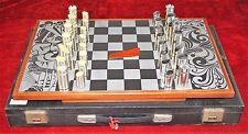 CHESS. TABS IN STAINLESS STEEL AND RESIN. NOVA-INOX. BARCELONA. CIRCA 1960.