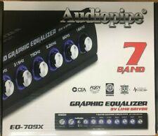Audiopipe - EQ-709X - 7 Band 9.V Half DIN Parametric Car Audio Equalizer EQ