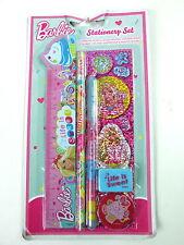 Barbie Stationery Set With Ruler Sharpener, Pencil Gel Pen Stickers Eraser