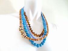 Modeschmuck-Halsketten aus Perlen mit Türkis-Hauptstein