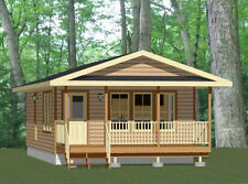 18x32 Tiny House -- 576 sqft -- PDF Floor Plan -- Model 2A