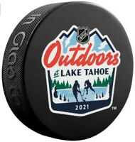 2021 NHL Lake Tahoe Outdoor Event Puck (Bruins, Flyers, Vegas, & Avalanche)
