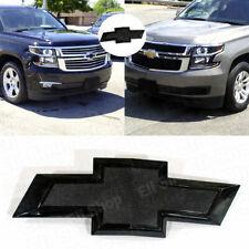 2015-2020 Chevrolet Tahoe Suburban Front Grille Black Bowtie Emblems OEM