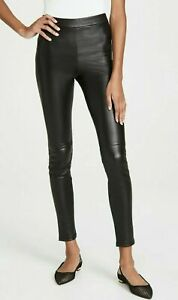 Theory Adbelle L2 Womens Pants Size 00 Black Bristol Leather Legging Skinny $995