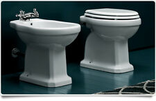 Sanitari Bagno modello classico serie completa wc e bidet a terra con copriwater