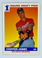 1991 Score Chipper Jones #671 Rookie Card RC Atlanta Braves HOF