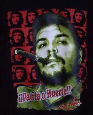 EL CHE GUEVARA T-SHIRT VIVA LA REVOLUCION PATRIA O MUERTE 2-SIDED