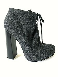 ALEXANDER WANG GRAY HIGH HEELS ANKLE BOOTIES SIZE 38