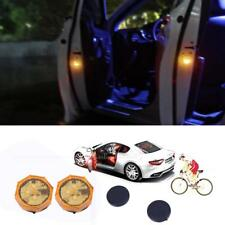 2x Universal Wireless Car Door LED Opened Warning Flash Light Anti-collid Yellow