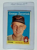 1958 Topps #6 George Zuverink Baltimore Orioles Baseball Card