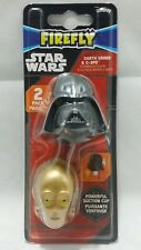 Disney Star Wars Toothbrush Cover Darth Vader C-3PO Suction Cup Kids Oral Health