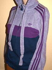 ADIDAS Oldschool Kapuzenjacke Vintage Zip-Hoody Hoodie Sweater Tweed lila SELTEN