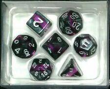 Oakie Doakie Enclave Black-Amethyst Purple DICE SET DnD RPG