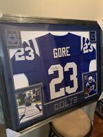 Frank Gore Authentic Autograph Framed Jersey COA