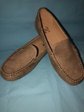 JG BALLET FLATS LOAFERS SLIP ON SHOES TAUPE TAN WOMENS SIZE 5.5. EUC Suede