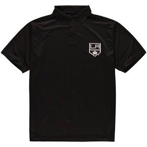 Los Angeles Kings NHL Majestic Men Big & Tall Synthetic Black Polo Shirt 2XT-6XL