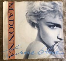 MADONNA 45 rpm Sire 7-28591 True Blue Picture Sleeve Blue Vinyl Promo Limited Ed