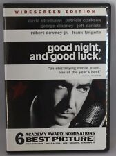 Good Night, and Good Luck (DVD 2005 Widescreen) David Strathairn George Clooney