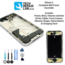 NEW Complete Mid Frame Housing Assembly Inc Power Mute Volume Switch - iPhone 4