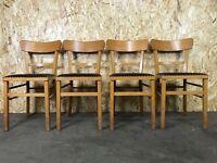 4x 50er 60er Jahre Stuhl Stühle Frankfurter Stuhl Bauhaus Mid Century Design
