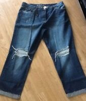 Next Women's Relaxed Rip Knees Boyfit Jeans Size 10 Tall  BNWT