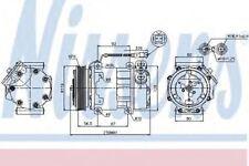 New Compressor air conditioning for CITROEN-FIAT-LANCIA-PEUGEOT 89047 Nissens