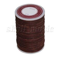 Brown 0.5mm 120M Waxed Polyester Round Braided Thread Cord DIY Macrame String