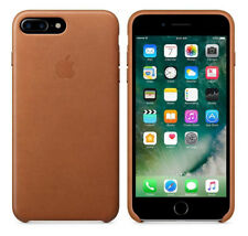 Original Apple Case iPhone 7 Plus / 8 Plus Leder Handy Cover Sattle Brown Braun