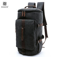 Dasein Vintage Military Men's Canvas Backpack Travel Hiking Duffle Rucksack Bag