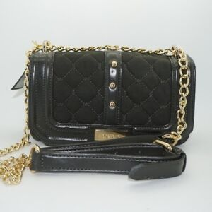 bebe Women's Stephanie Mini Quilted Studded Crossbody Purse Dusty Olive