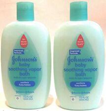 2 Pack Johnson's Baby Soothing Vapor Bath 15 oz