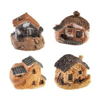 4 Pack Miniature Fairy Garden House Cottage Accessories for Mini Garden PatiQ5S4